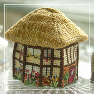 Cross-stitch embroidery kit_size: w 4.6 x d 4 x h 5 cm_Bluebell Cottage_£16